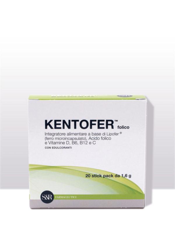 KENTOFER Folico - Integratore alimentare - Utile supporto in caso di carenza di ferro e vitamine anchein gravidanza