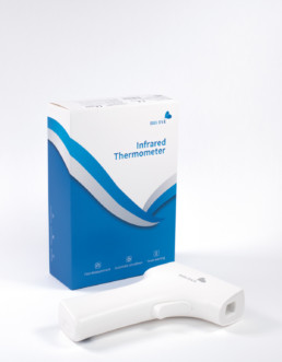 TERMOSCANNER A INFRAROSSI - Dispositivo medico - Termometro digitale ad infrarossi per misurazione febbre con schermo LCD con certificazione CFDA, CE, FDA